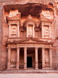 The ancient Treasury. El-Khazneh, Petra, Jordan. The city of Petra was lost for over 1000 years and is now one of the new Seven Wonders of the World Royalty Free Stock Images