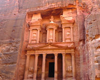 Ancient Treasury in Petra, Jordan Royalty Free Stock Photo