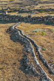 Ancient trench for thermal water Royalty Free Stock Photo