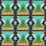 Ancient triangle geometric seamless pattern Royalty Free Stock Images