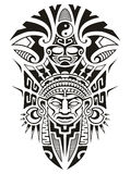 Ancient Tribal mask vector illustration Royalty Free Stock Photos
