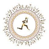 Ancient tribal people, ethnic ornament frame for Royalty Free Stock Image