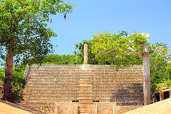 Ancient tribune in Mexico Royalty Free Stock Photo