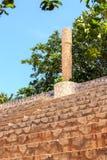 Ancient tribune in Mexico Stock Photos