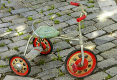 Ancient tricycle stock photography