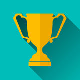 Ancient Trophy Cup Icon, Vector Illustration Royalty Free Stock Images