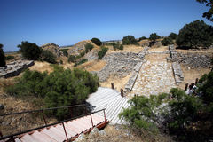 Ancient Troy. Ancient walls of legendary Troy city, Turkey Royalty Free Stock Photos
