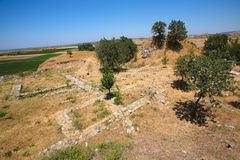 Ancient Troy. Wall of Ancient Troy in Canakkale,Turkey Royalty Free Stock Photography