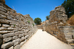 Ancient Troy. Wall of Ancient Troy in Canakkale,Turkey Stock Image