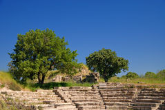 Ancient troy ruins. In Canakkale Turkey Stock Photo
