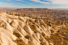 Ancient tuff stone caves landscape. In Goreme Cappadocia Turkey Royalty Free Stock Images