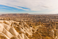 Ancient tuff stone caves landscape. In Goreme Cappadocia Turkey Stock Photo