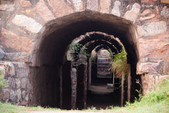 Ancient tunnel Stock Image