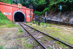Ancient tunnel and railway Royalty Free Stock Photography