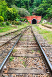 Ancient tunnel and railway Royalty Free Stock Image