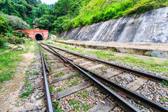 Ancient tunnel and railway Stock Image
