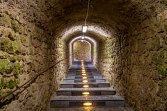Ancient tunnel Royalty Free Stock Images