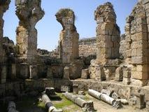 Ancient Turkey. Side, Turkey Altalya region, ancient arhitecture royalty free stock photo