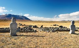 Ancient turkic monuments Stock Image