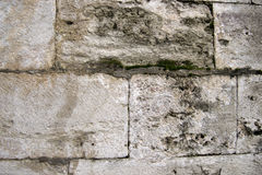 Ancient Turkish Beige Stonewall from Ottoman period for Background Stock Photo