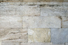Ancient Turkish Beige Stonewall from Ottoman period for Background Stock Photos