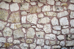 Ancient Turkish Beige Stonewall from Ottoman period for Background Royalty Free Stock Image