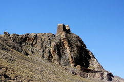 Ancient turret on the cliff Stock Photography