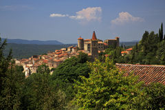Ancient Turrets And Towers Of The Beautiful Medieval French Mountain Village Of Callian Royalty Free Stock Images
