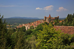 Ancient Turrets and Towers of the Beautiful Medieval French Mountain Village of Callian Stock Photography