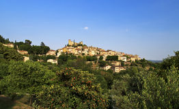 Ancient Turrets and Towers of the Beautiful Medieval French Mountain Village of Callian Royalty Free Stock Photos