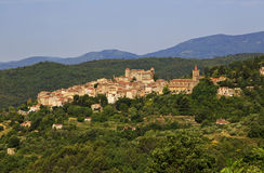 Ancient Turrets and Towers of the Beautiful Medieval French Mountain Village of Callian Royalty Free Stock Image