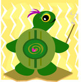 Ancient Turtle with Smudge Stick Stock Image