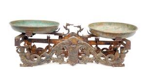 Ancient two pan balance Stock Image