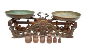 Ancient two pan balance Royalty Free Stock Photo