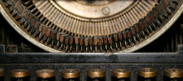 Ancient typewriter. Close-up Royalty Free Stock Photos