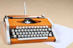 Ancient typewriter. Russian-Letter Alphabet Stock Photography