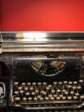 Ancient typewriter royalty free stock images