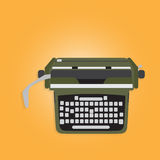 Ancient typewriter. Vintage Appliances, Ancient typewriter, Vector illustration Stock Image