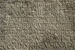 Ancient Typography Stock Photos