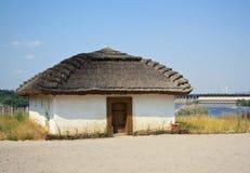 The ancient Ukrainian house. Museum Zaporizhian Sich, Ukraine Royalty Free Stock Photos