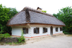 Ancient Ukrainian house thatched Stock Photo