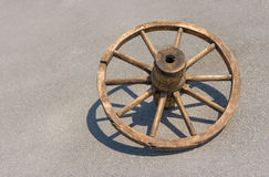 Ancient Ukrainian wheel for peasant cart Royalty Free Stock Photo