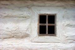 Ancient Ukrainian window. House in authentic village. Ukraine, K Stock Photo