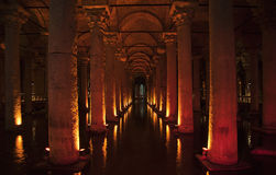 Istanbul basilica cistern Stock Images