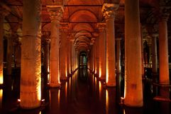 Ancient underground water reservoir Royalty Free Stock Photography