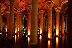 Ancient underground water reservoir Stock Image