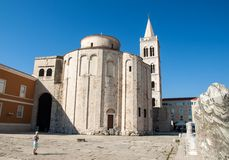- The ancient UNESCO listed byzantine basilica of St Donatus in Zadar. Croatia Royalty Free Stock Photography