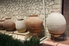 Ancient urns and jars Stock Photos