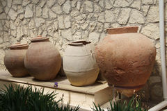 Ancient urns and jars Royalty Free Stock Photography