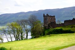 Historic Urquhart Castle royalty free stock photo